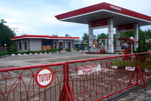 Geschlossene Tankstelle