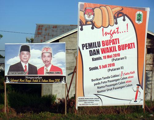 Am 19. Mei ist Bupatiwahl in Kapuas Hulu.