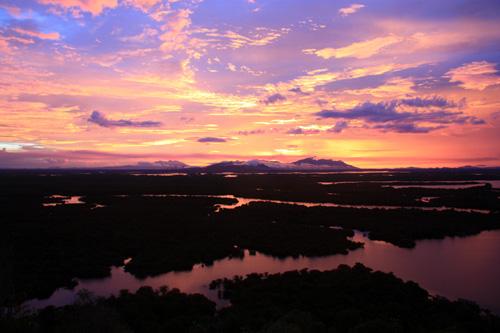 Sonnenuntergang im Danau Sentarum Nationalpark