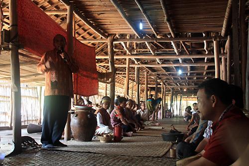 Ansprachen und Reden… beim Gawai in Ensaid Panjang