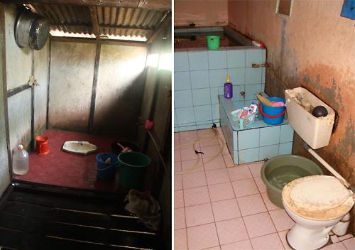 Mandi in Haus eines Buergermeisters. Das Wasserbasain bitte nicht als Badewanne missbrauchen!